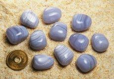 画像2: ブルーレース・アゲート守護石 無料ポシェット付き K0047 (2)