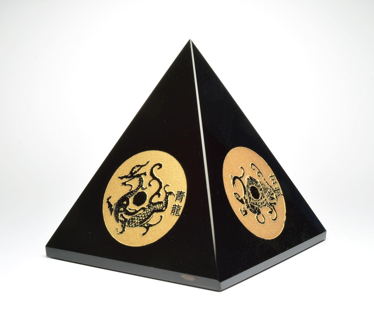 画像1: 四神獣ピラミッド - オブシディアン K0114 (1)
