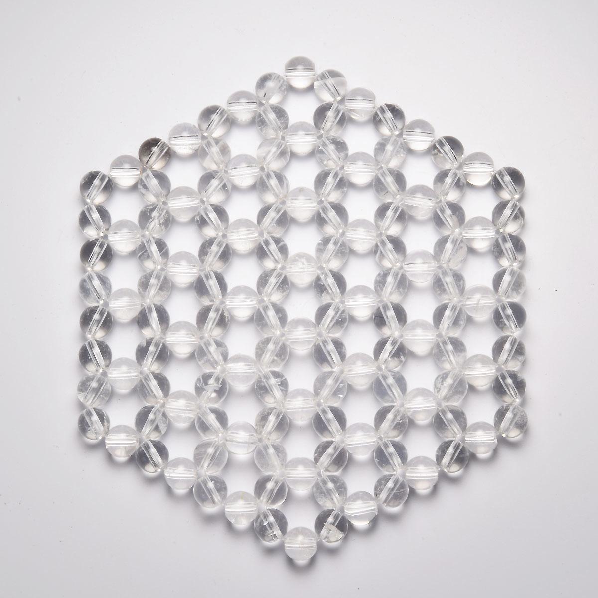 画像1: ヘキサゴン水晶浄化マット K0365 (1)